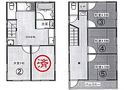 新宿シェアハウス[5号室]の間取り