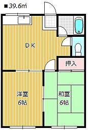 メゾンフジ[2階]の間取り