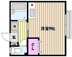 兵庫県神戸市東灘区住吉東町2丁目の賃貸アパートの間取り