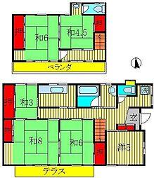 [一戸建] 千葉県流山市富士見台1丁目 の賃貸【/】の間取り