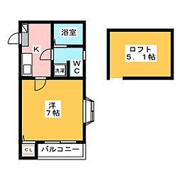 ピュア箱崎東 壱番館[1階]の間取り