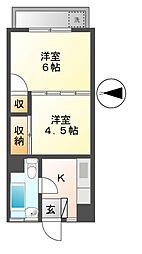 西東京ハイツ[4階]の間取り