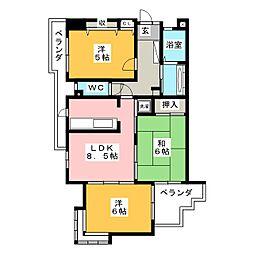ナビシティ新岐阜[9階]の間取り