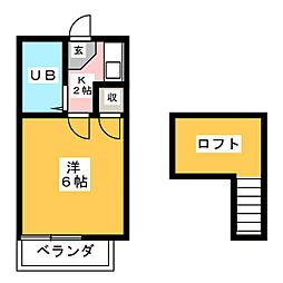 レオパレス21八田第2[1階]の間取り