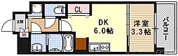 THE GARNET MILLENNIUM KYOTO九条烏丸 4階1DKの間取り