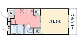 エポック甲子園口[105号室]の間取り