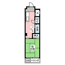 第3犬飼マンション[2階]の間取り