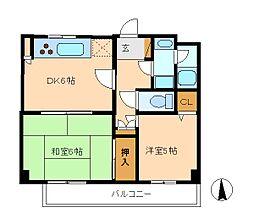 コスモ松戸胡録台[3階]の間取り
