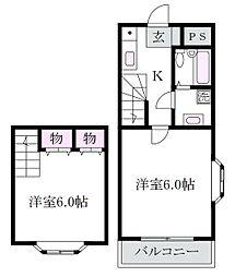 東京都杉並区清水2丁目の賃貸マンションの間取り