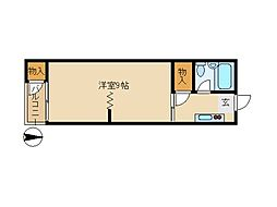 東京都大田区田園調布本町の賃貸アパートの間取り