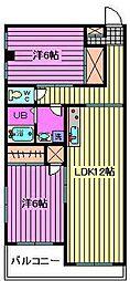 横瀬マンション[202号室]の間取り