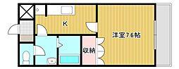 シャトーグリーンII[1階]の間取り