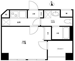 東京都大田区蒲田5丁目の賃貸マンションの間取り