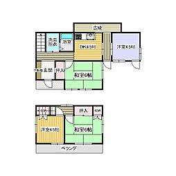 [一戸建] 茨城県つくばみらい市狸穴 の賃貸【茨城県/つくばみらい市】の間取り
