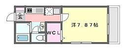 千葉県船橋市二宮1の賃貸アパートの間取り