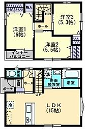 [一戸建] 香川県高松市松島町3丁目 の賃貸【/】の間取り