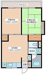 武蔵マンション[305号室]の間取り