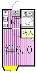 シャンテ松戸[203号室]の間取り