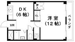 浅田センチュリーマンション[3階]の間取り