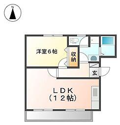 プチ・ボヌール[2階]の間取り