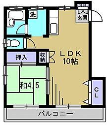 第2有泉荘[2階]の間取り