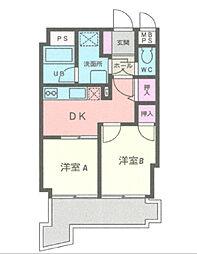 神奈川県横浜市中区大和町1丁目の賃貸マンションの間取り