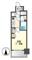 プレサンス名古屋グロウ[8階]の間取り