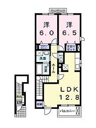 マンダリン フルール1・2[B205 号室号室]の間取り