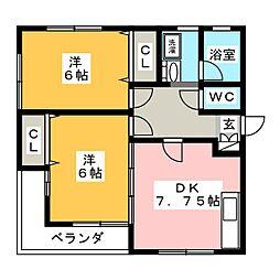 Cetain KMK[1階]の間取り