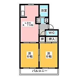 メゾンドデボラ A[2階]の間取り