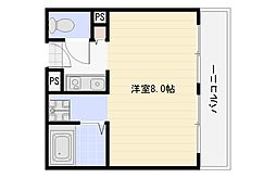 大阪府大阪市平野区西脇2丁目の賃貸マンションの間取り