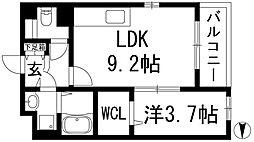 兵庫県伊丹市池尻3丁目の賃貸アパートの間取り