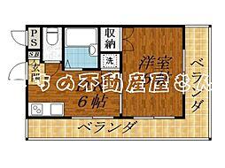 コーポ輝[2階]の間取り