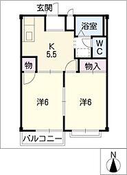 ファミール青木[1階]の間取り