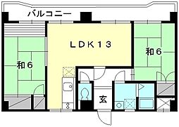 緑風館 中央[501 号室号室]の間取り