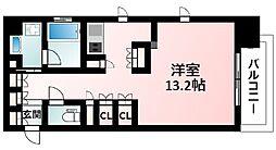 Osaka Metro御堂筋線 江坂駅 徒歩3分の賃貸マンション 8階ワンルームの間取り