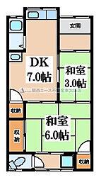 [テラスハウス] 大阪府東大阪市花園東町3丁目 の賃貸【/】の間取り