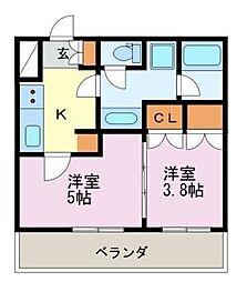 diciotto ATSUTA[1階]の間取り