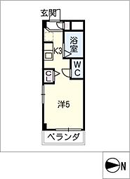 シャトー岐大 A棟[2階]の間取り