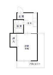 村田マンション[000号室]の間取り