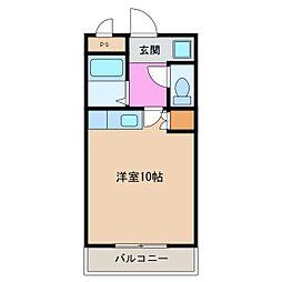 2021年春の予約可能Roku-Rokuマンション[223号室]の間取り