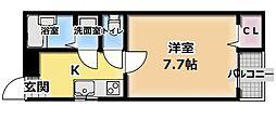 プチシャトー寺田[2階]の間取り