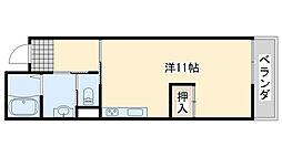 みらいハウス[201号室]の間取り