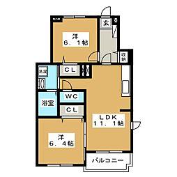 グランツハウスIII[1階]の間取り
