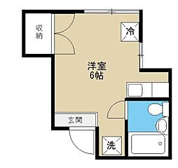 東京都豊島区目白2丁目の賃貸アパートの間取り