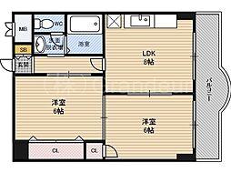 楠青山ハイツ[3階]の間取り