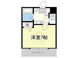 愛知県名古屋市千種区月見坂町1の賃貸マンションの間取り