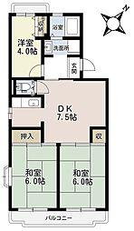 埼玉県さいたま市緑区大字三室の賃貸マンションの間取り