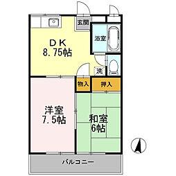 戸塚区名瀬町 グリーンハイツII304号室[304号室]の間取り