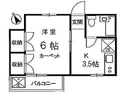 東京都杉並区西荻南4丁目の賃貸アパートの間取り
